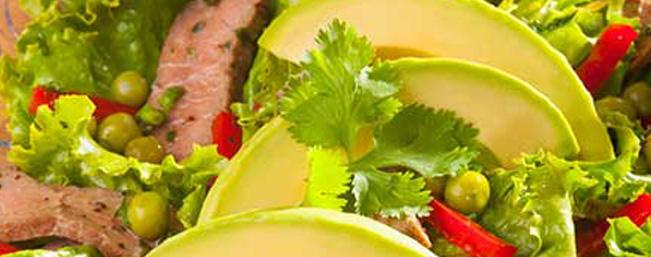 アボカドとビーフのアジア風サラダ