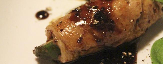 アボカドとクリームチーズの豚肉ロール〜ハニーマスタードバルサミコソテー