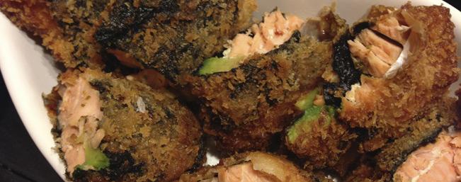 鮭アボフライ・タルタルソース添え