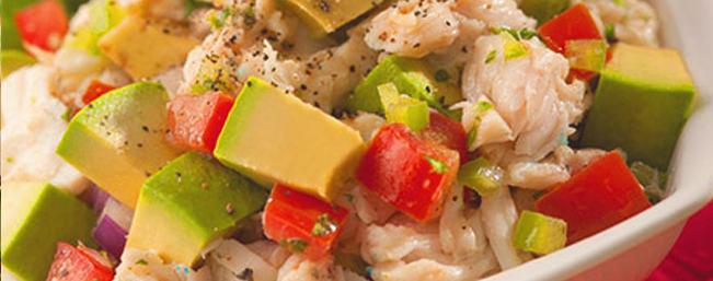 真鱈のアボカドサラダ