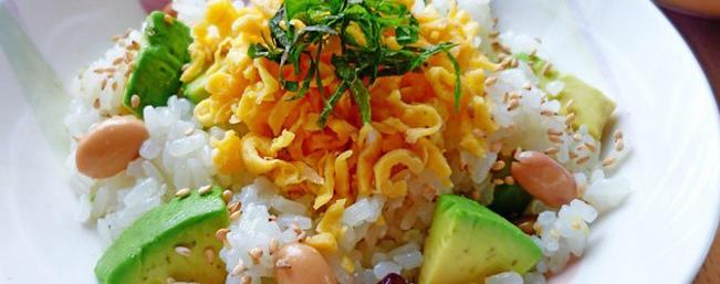 アボカドとお豆の洋風ちらし寿司