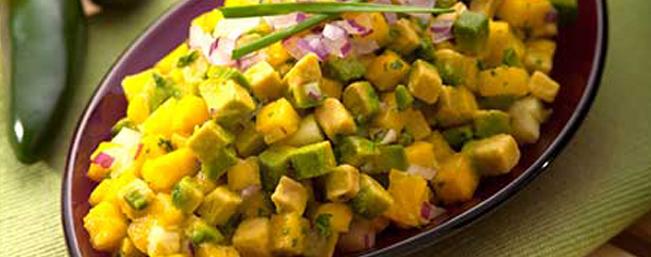 パイナップル&キュウリのワカモレ