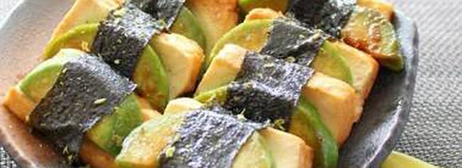 アボカド豆腐の磯辺焼き