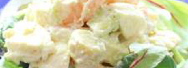 海老アボカドとモッツァレラチーズのマーマレードマヨサラダ