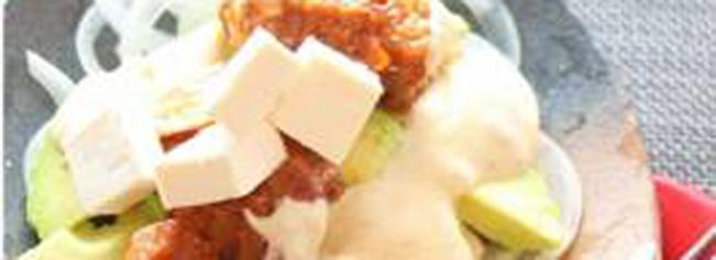 缶つま♪炙りまぐろステーキてりマヨアボカドチーズ