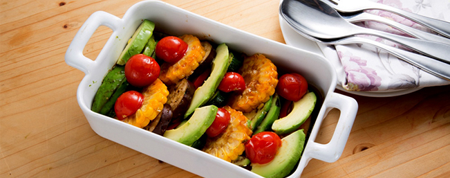 【7月】アボカドと夏野菜のオーブン焼き(217 kcal)