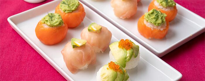 3種のアボカド手まり寿司