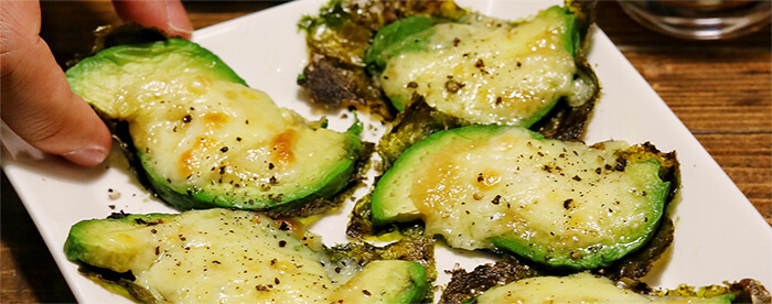 アボカド海苔チーズのわさびマヨ焼き