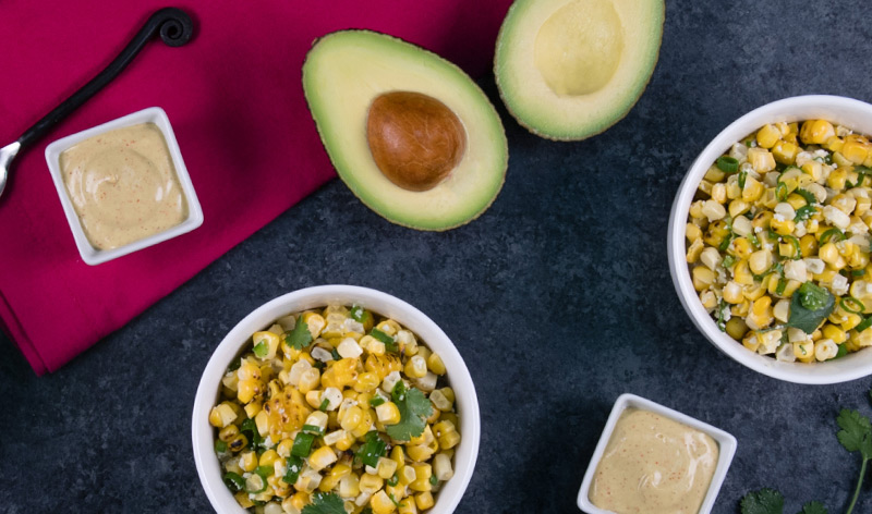 アボカドとコーンのメキシカンサラダ